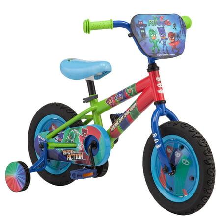 Disney Junior's Pj Masks: Multi-Character Kids' Bike, 12-inch wheel, training wheels, multi color
