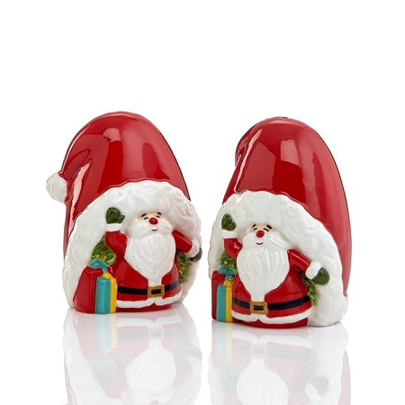 Martha Stewart Collection VINTAGE HOLIDAY Santa Salt & Pepper Shaker Set (Halloween Food Recipes Martha Stewart)