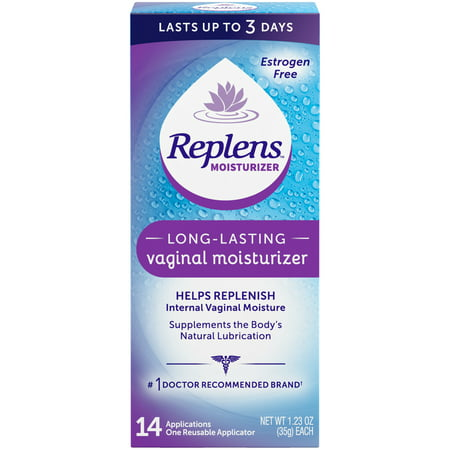 - Replens Long-Lasting Vaginal Moisturizer, 35g tube with reusable applicator