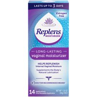 Replens Long-Lasting Vaginal Moisturizer, 35g tube with reusable applicator