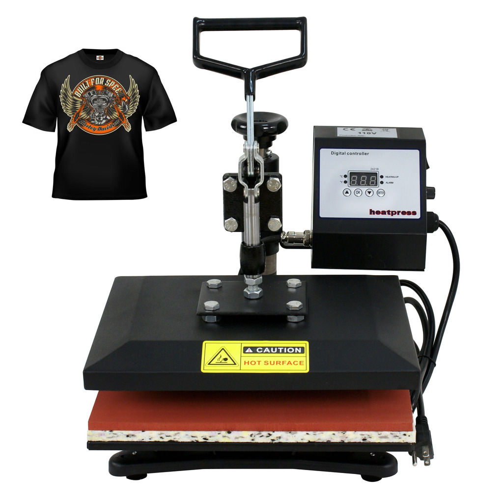 "ZENY Digital 12""x10"" Heat Press Swing Away Sublimation Machine for T Shirts with LCD timer and Temperature Control"