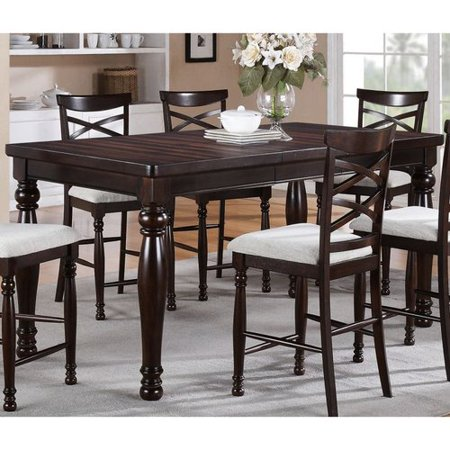 Winners Only DHT14078 Hamilton Park Counter Height Dining Table with Butterfly Leaf