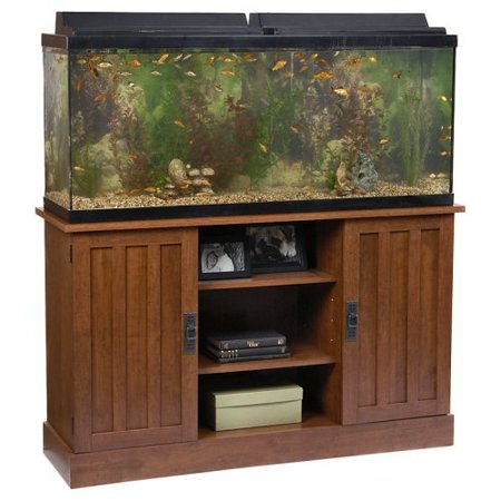 Ameriwood 55 gallon aquarium stand for Fish tank stand walmart