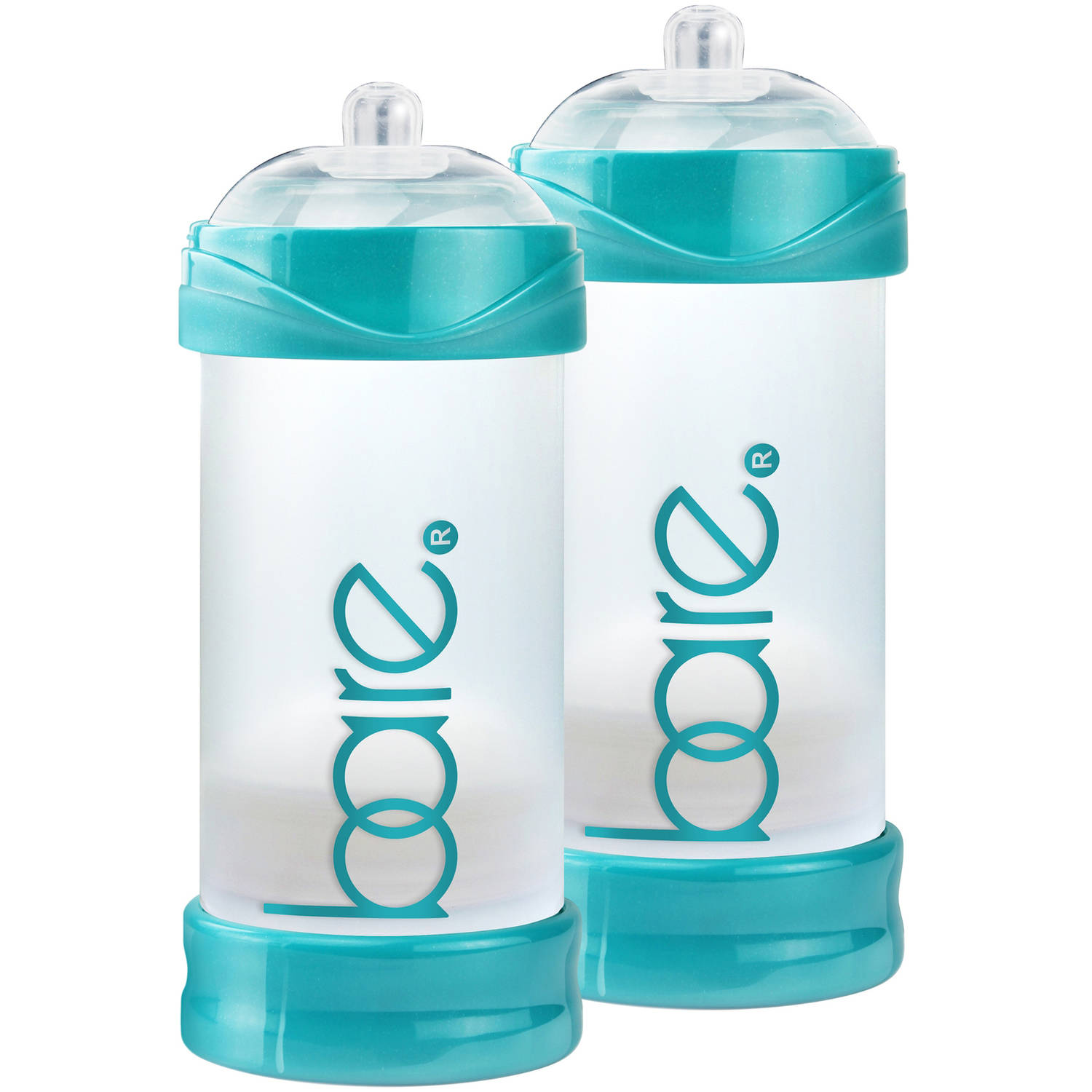 BARE Air-free 8oz Twin Pack with Perfe-latch Nipples, Breast-like & Air-free by BARE AIR-FREE FEEDING SYSTEM