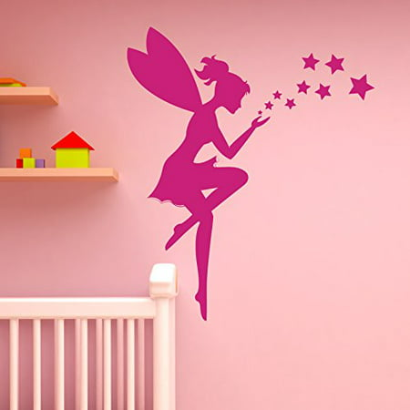 Fairy and Stars Wall Decal Sticker, Girl's Room Vinyl Wall ...