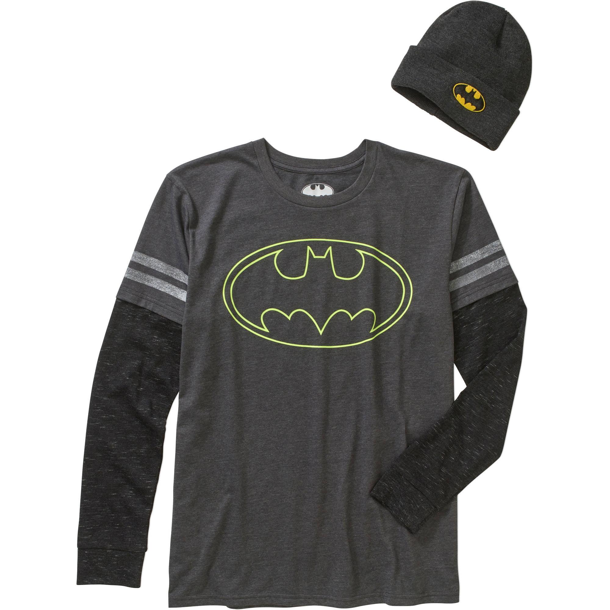 Batman Men's Shirt & Beanie Combo