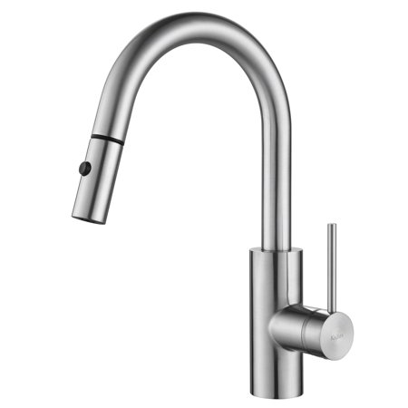 KRAUS Oletto™ Single Handle Pull Down Kitchen Faucet in Chrome Finish
