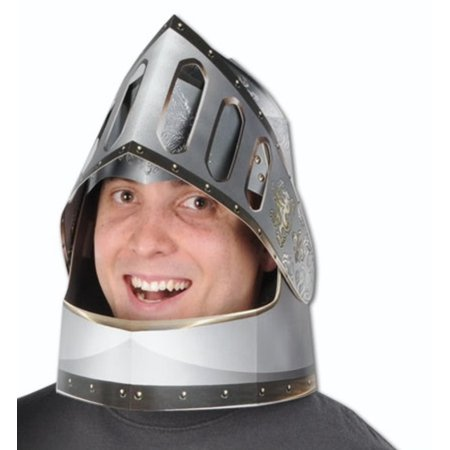 Club Pack of 12 Silver and Gold Double-Sided Knight's Helmets (Knight Helmets)