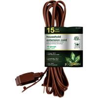 GoGreen Power 16/2 6' Household Extension Cord, White, 24706