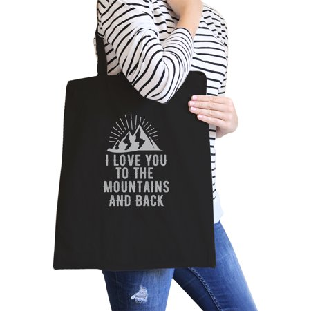 Mountain And Back Black Canvas Bag Gift Ideas For Mountain Lovers (Black And White Party Ideas)