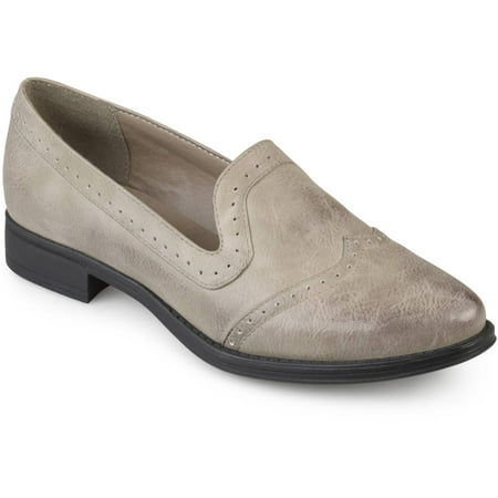 7b75077eba5 Womens Faux Leather Pointed Toe Wingtip Oxford Brogue Loafers - Walmart.com