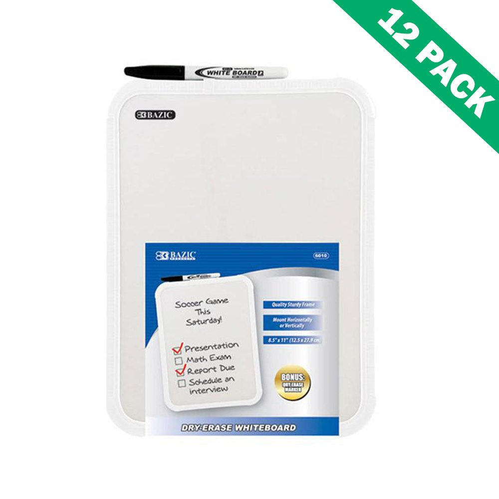 Dry Erase Board Stand, Students Wall Mounted 8.5x11 White Erase Board Set Of 12