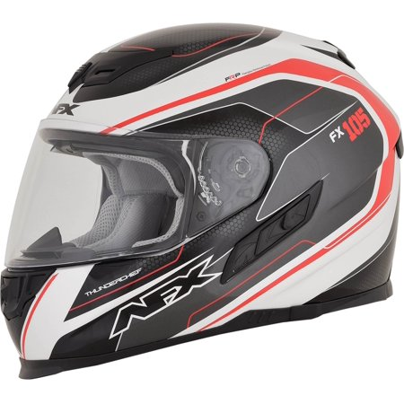 AFX FX-105 Thunder Chief Full Face Motorcycle Helmet Red Lg  0101-9735 - Master Chief Deluxe Helmet