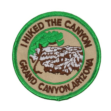 Souvenir Patch I Hiked The Grand Canyon Arizona National Park Iron-On Applique