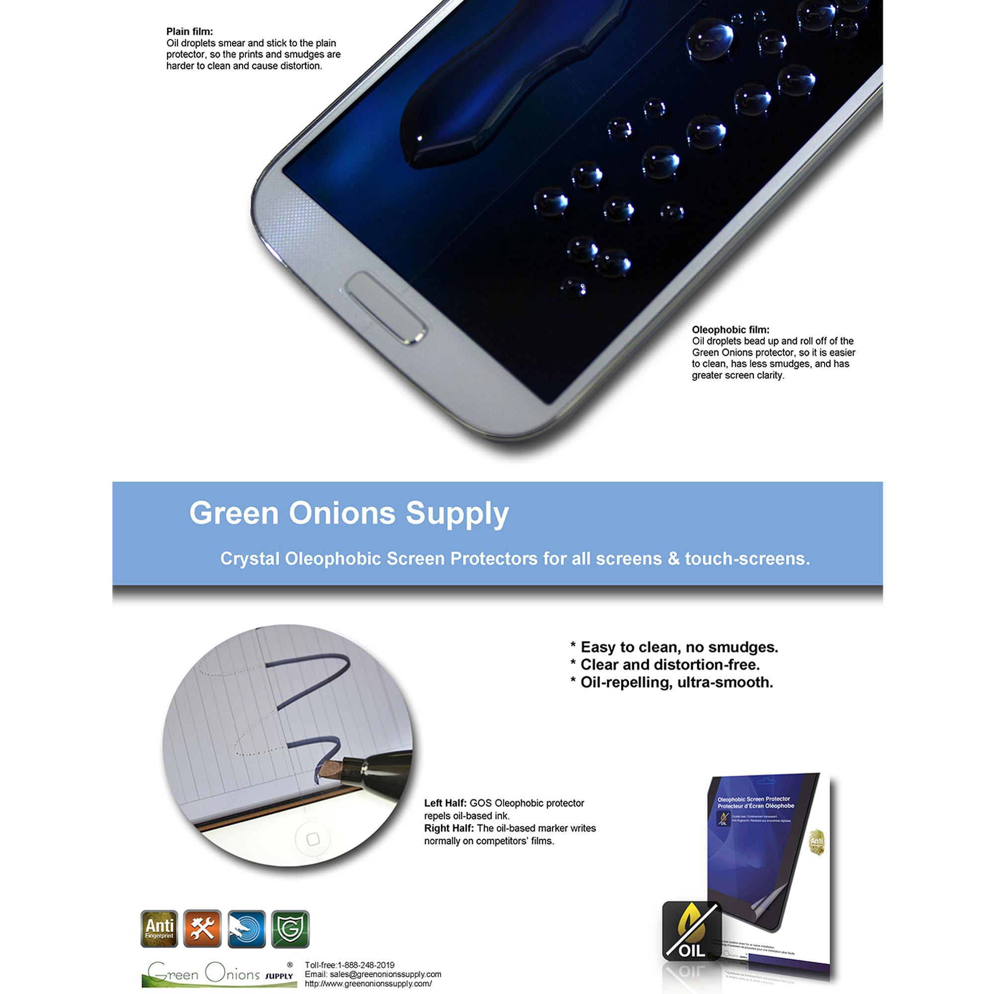 Crystal Oleophobic Screen Protector for BlackBerry Z30 Smartphone, 2pk