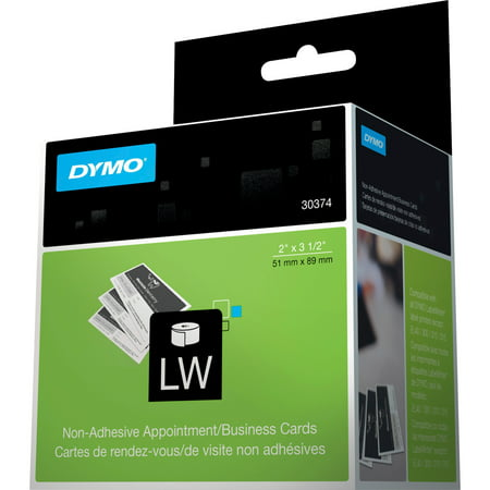 Dymo Direct Thermal Print Business Card, White, 300 / Roll (Quantity)