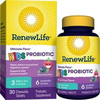 Renew Life Kids Chewable Probiotic, 3 Billion, Berry, 30 Ct