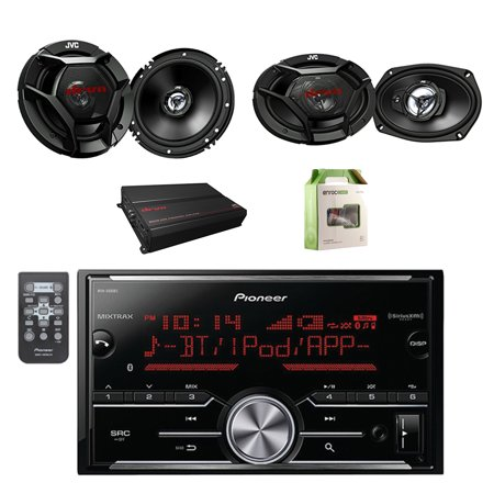 pioneer vehicle digital media 2din receiver w bluetooth with jvc 6 5 car audio 2way speakers. Black Bedroom Furniture Sets. Home Design Ideas