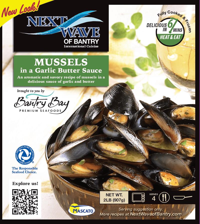 Frozen Mussels in a Garlic Butter Sauce