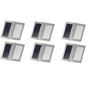 VicTsing Outdoor Stainless Steel LED Solar Lights for Stairs, Deck & Patio ?6 Pack?