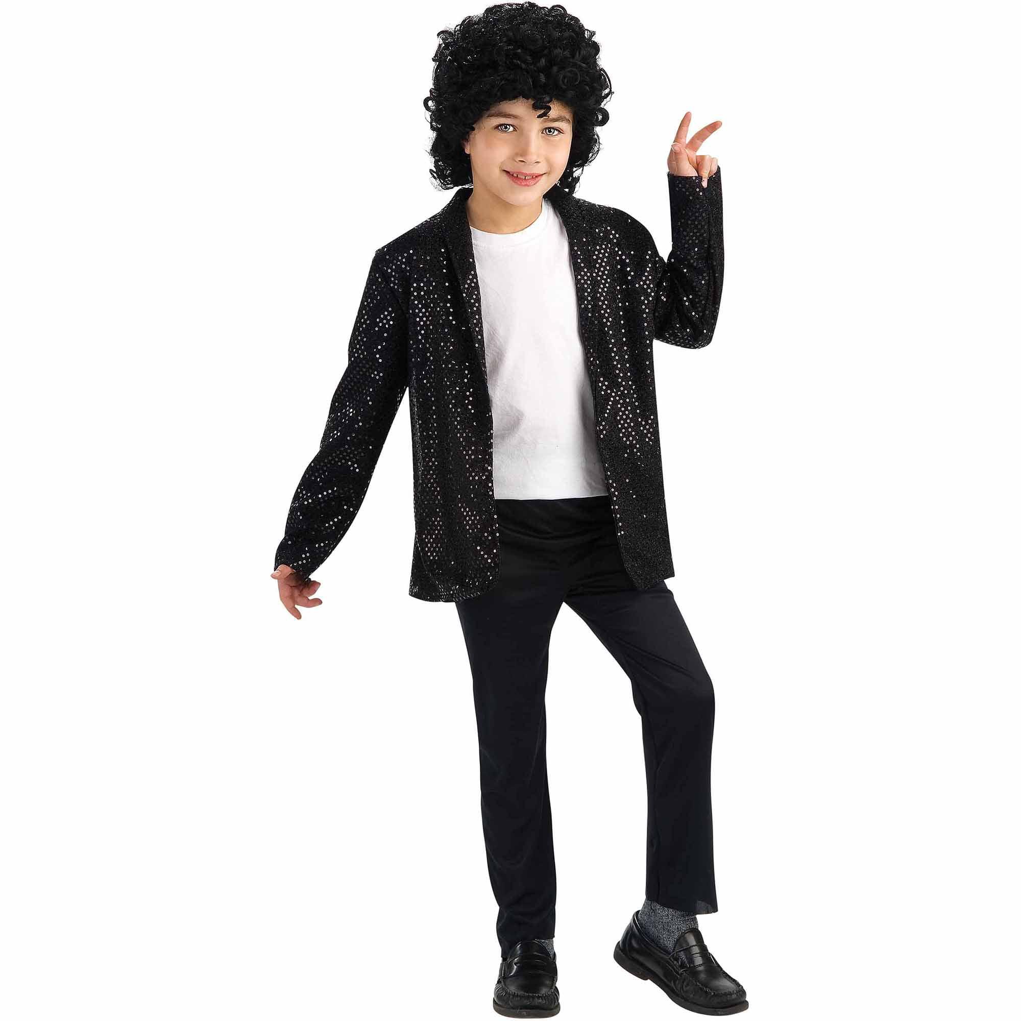 Michael Jackson Deluxe Billie Jean Jacket Child Halloween Costume ...