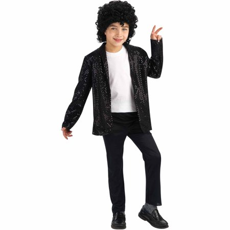 Michael Jackson Deluxe Billie Jean Jacket Child Halloween (Children's Michael Jackson Costume)