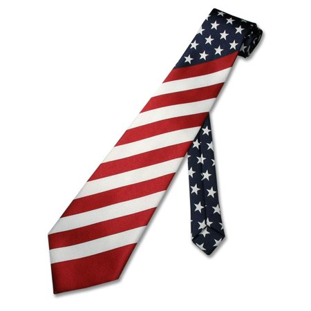 American Flag Men's Neck Tie USA Patriotic NeckTie NEW