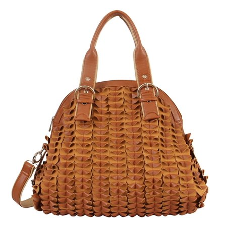 Riley Satchel - Mellow World Fashion Riley Dome Satchel, Brown, One Size