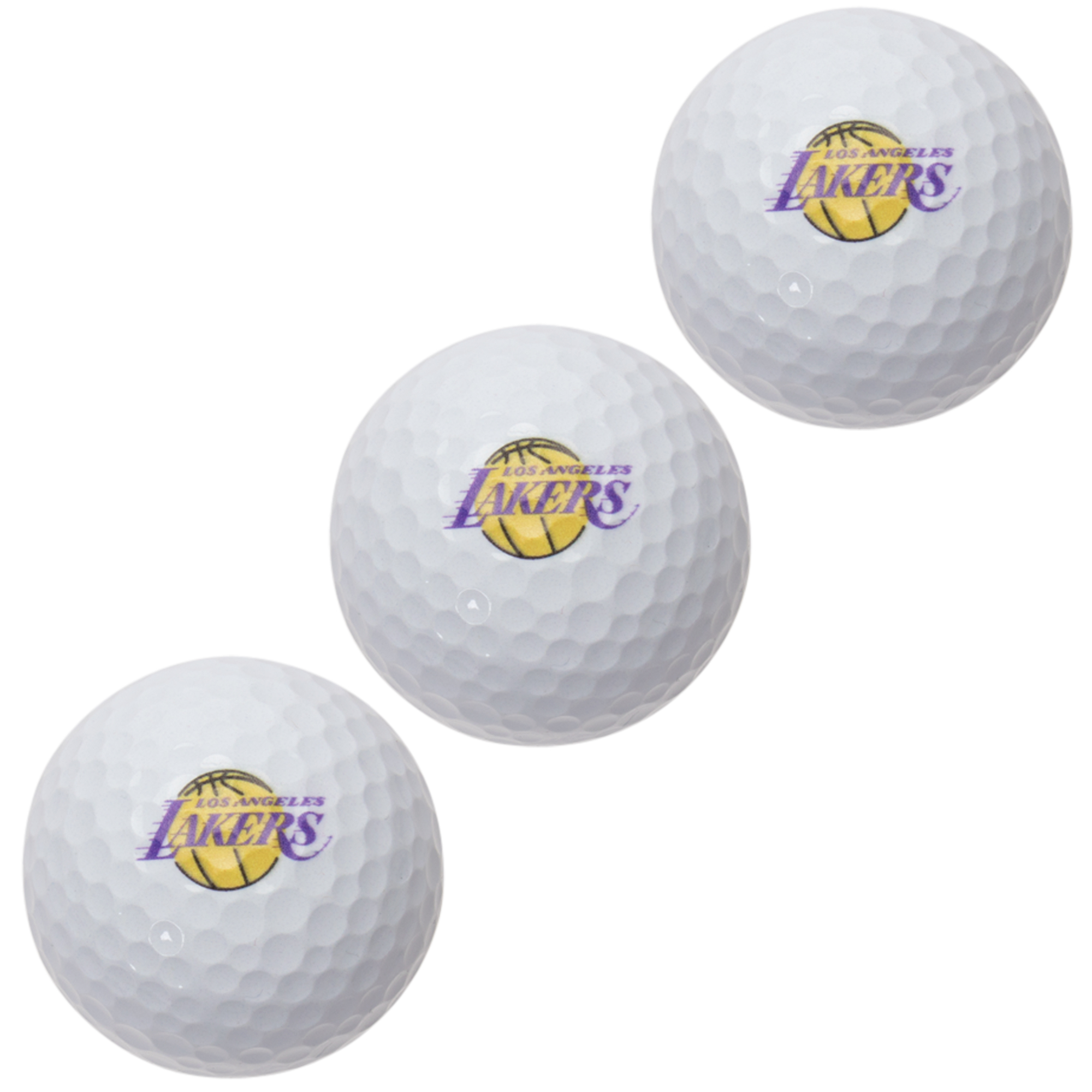 Los Angeles Lakers Pack of 3 Golf Balls - No Size