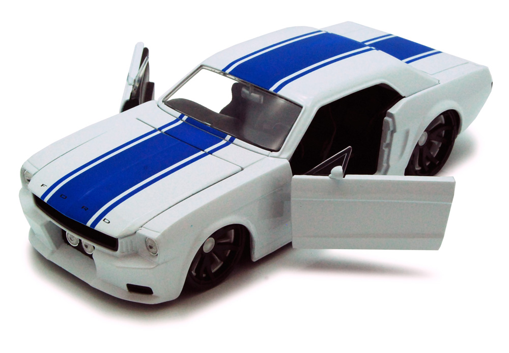 1965 Ford Mustang, White Jada Toys Bigtime Muscle 90545 1 24 scale Diecast Model Toy Car... by Jada