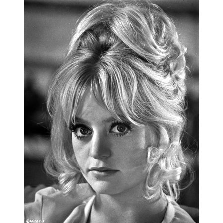 Portrait Of Goldie Hawn Black And White Photo Print