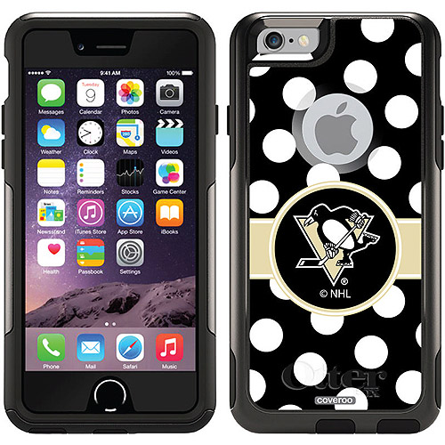 Pittsburgh Penguins Polka Dots Design on OtterBox Commuter Series Case for Apple iPhone 6