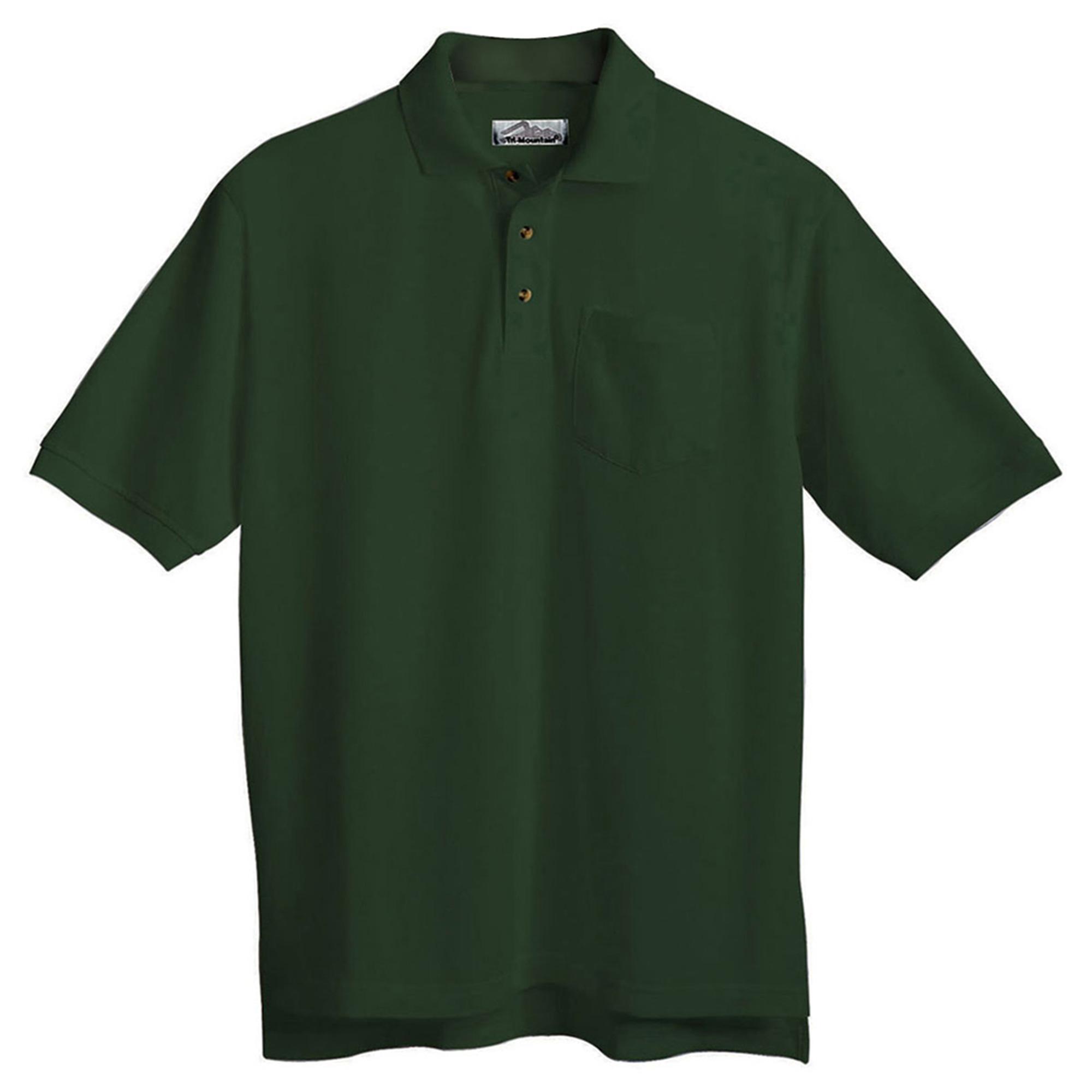 Tri-Mountain Men's Stain Resistant Easy Care Pocket Polo