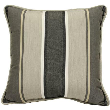 Better Homes & Gardens 18 x 18 in. Linen Stripe Outdoor Toss Pillow - Set of 2