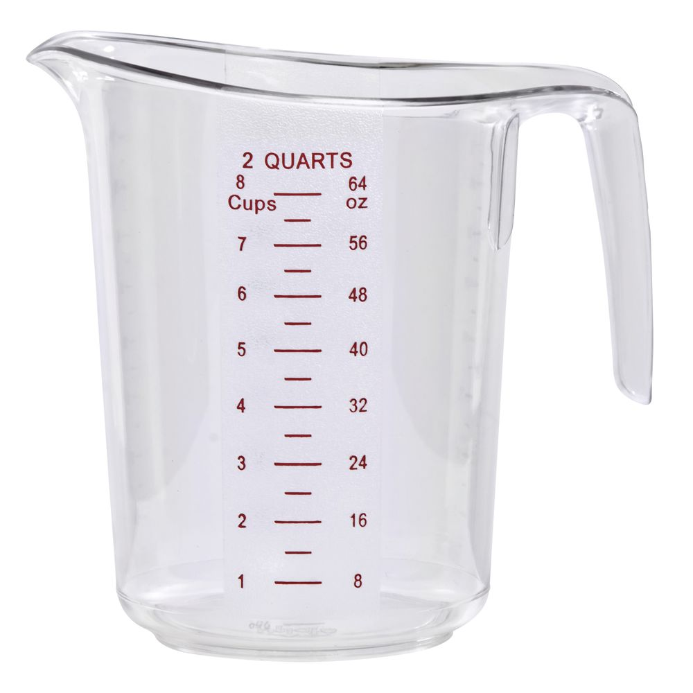 HUBERT Measuring Cup 2 Quart Break Resistant Polycarbonate