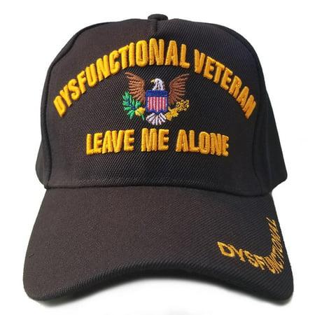 Cheap Military Hats (Dysfunctional Veteran Hat Military Black Adjustable)