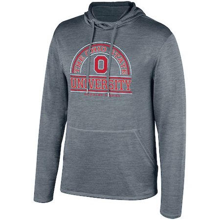Men's Gray Ohio State Buckeyes Impact Long Sleeve Hooded T-Shirt