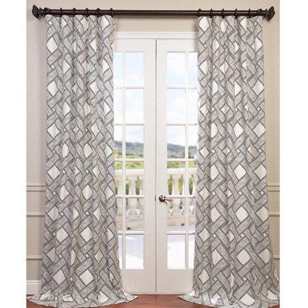 Half Price Drapes Pavers Twill Single Curtain Panel