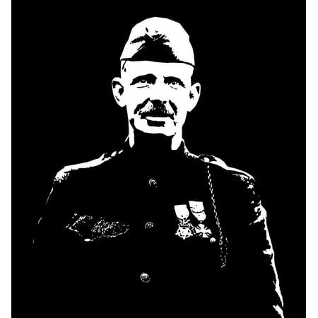 - Vector artwork of Sergeant Alvin York an American soldier in World War I Poster Print