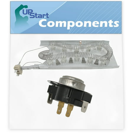 3387747 Dryer Heating Element & 3387134 Cycling Thermostat Replacement for Kenmore / Sears 11067751600 Dryer - Compatible with WP3387747 & WP3387134 Heater Element & Fixed Thermostat Kit - image 1 of 4