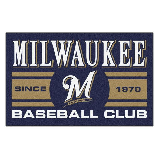 FANMATS 18474 Milwaukee Brewers Baseball Club Starter Rug
