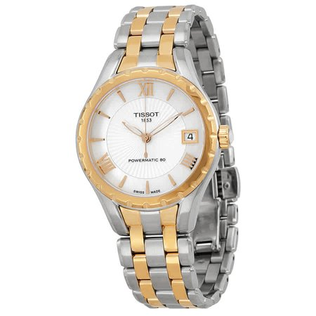 T-Lady Powermatic 80 Mother of Pearl Dial Two-tone Ladies Watch T0722072211801 ()
