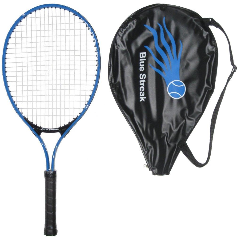 "Blue Streak Junior Tennis Racquet with Cover - Lengths: 19"", 21"", 23"", 25"""