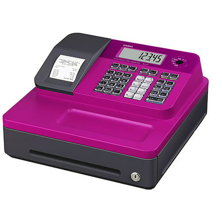 Casio SEG1SC Thermal Print Cash Register, Pink (Easy Cash Register)
