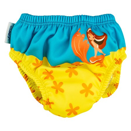 FINIS Mermaid? DiaperSwim Diaper In Starfish, Size 4T Small Cloth Diaper