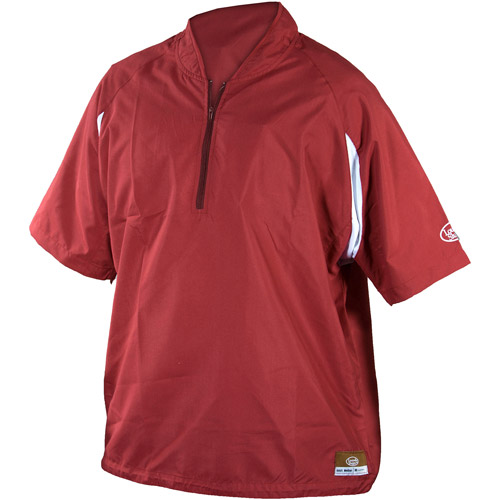Louisville Slugger Youth Slugger Batting Cage Pullover with 1/4 Zip, Maroon
