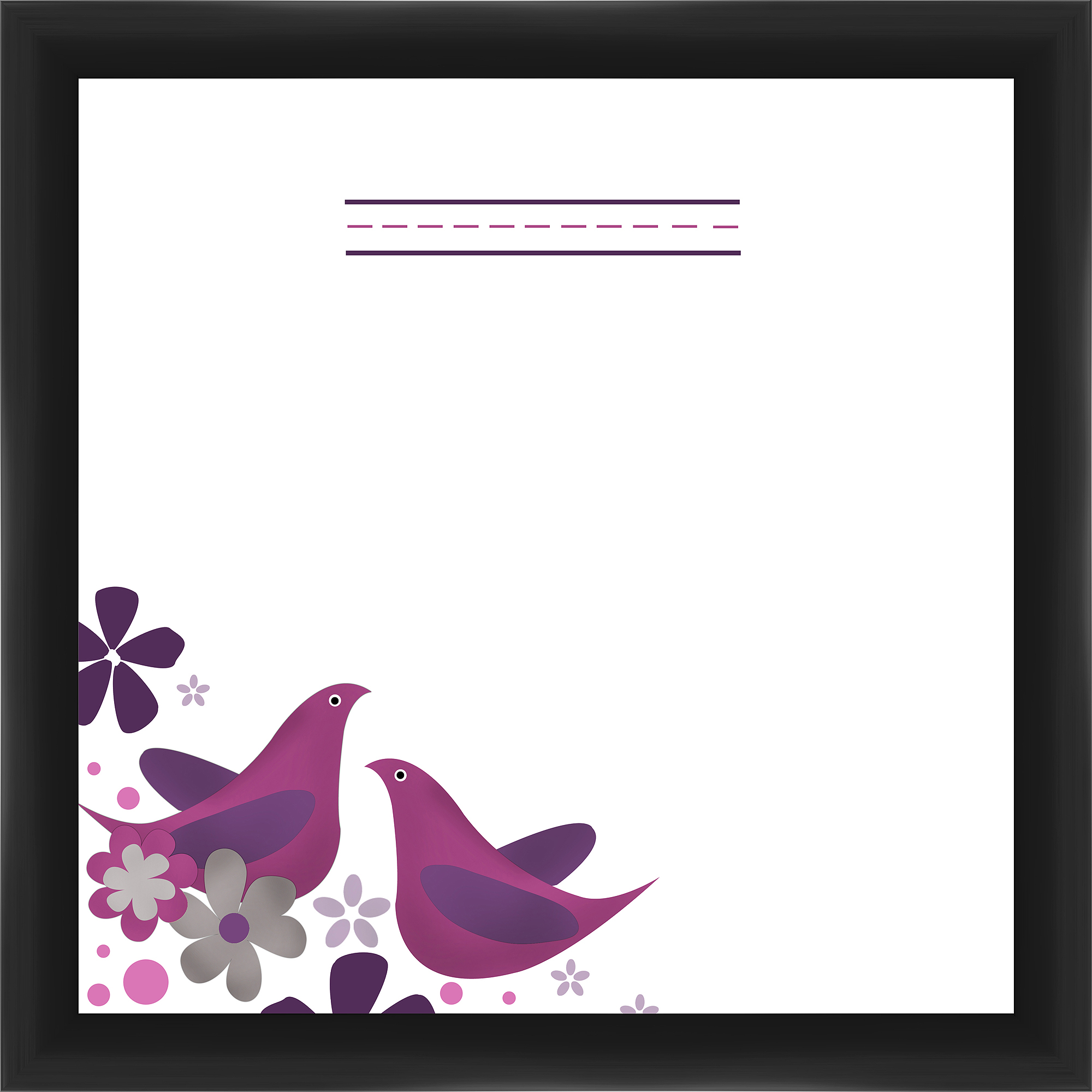 Purple Birds I Memoboard