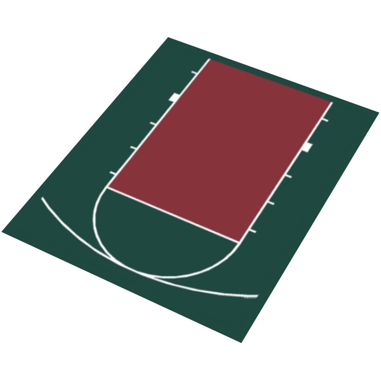 "DuraPlay Half Court Basketball Kit, 20'7"" x 24'10"""