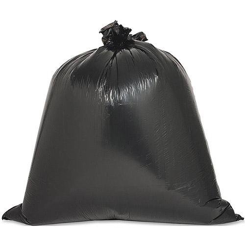 Genuine Joe Linear Low Density Trash Bags, Black, 45 gal, 40 count
