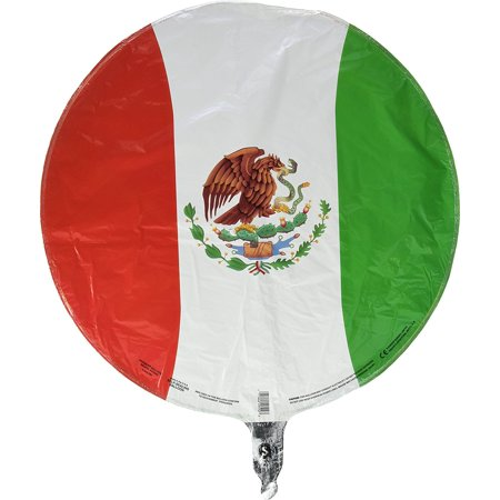 Mexican Flag Flat Balloon, 18